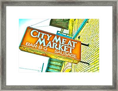 Meat On The Market Framed Print by Chuck Taylor