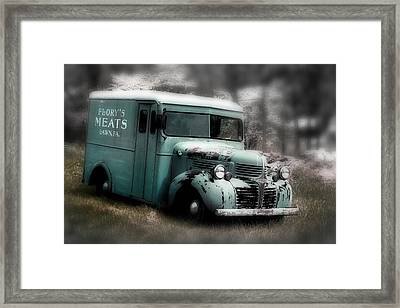 Framed Print featuring the painting Meat Truck by Gray  Artus