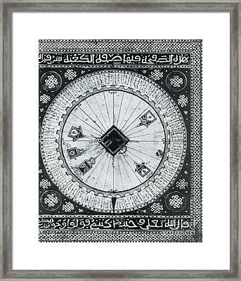 Mecca Center Of The World Arabic Atlas Framed Print