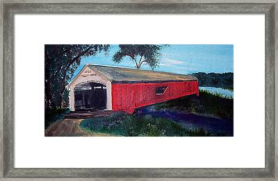 Mecca Covered Bridge Framed Print by Andrea Harston