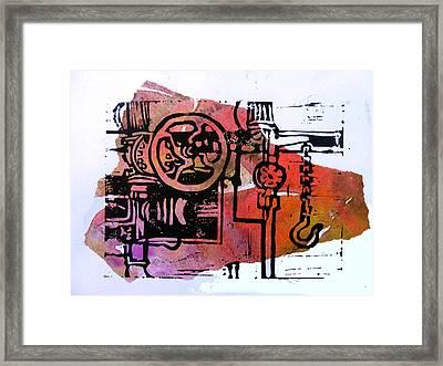 Mech Heating Up Framed Print by Adam Kissel