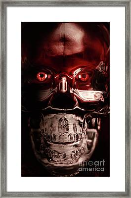 Mech War Machine. Crystalised Robot Skull Framed Print by Jorgo Photography - Wall Art Gallery