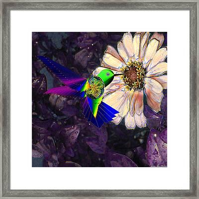 Framed Print featuring the digital art Mecha Whirlygig by Iowan Stone-Flowers