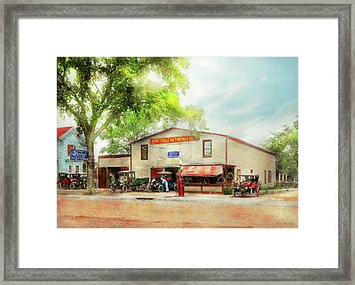 Framed Print featuring the photograph Mechanic - All Cars Finely Tuned 1920 by Mike Savad