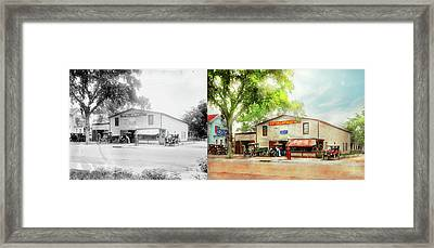 Framed Print featuring the photograph Mechanic - All Cars Finely Tuned 1920 - Side By Side by Mike Savad
