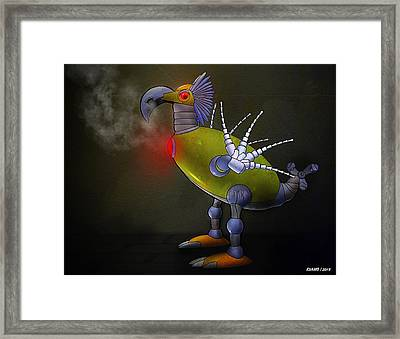 Mechanical Bird Framed Print
