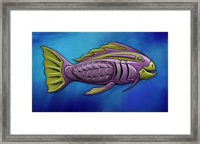 Mechanical Fish 4 Harley Framed Print