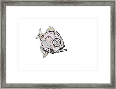Mechanical Fish No 4.piranha Framed Print by Elaine MacKenzie