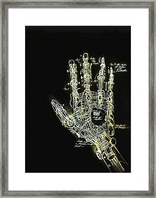 Mechanical Hand Framed Print by Ralph Nixon Jr