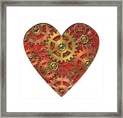 Mechanical Heart Framed Print by Michal Boubin