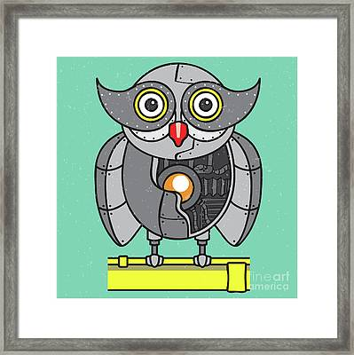 Mechanical Owl Artwork Framed Print by Jorgo Photography - Wall Art Gallery