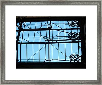 Mechanical Windows Framed Print by Edmund Akers