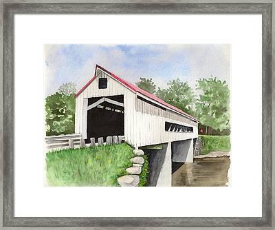 Mechanicsville Rd Bridge Framed Print