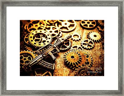 Mechanised Warfare Framed Print