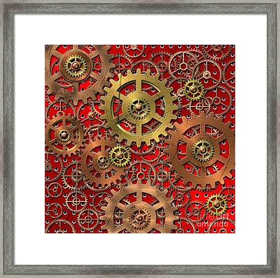 Mechanism Framed Print by Michal Boubin