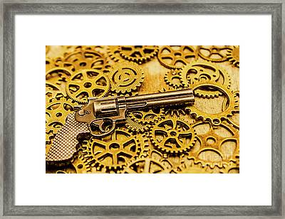 Mechanisms Of The Wild West  Framed Print
