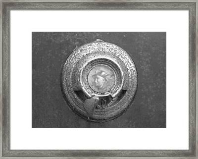 Mecury Emblem Framed Print by Audrey Venute