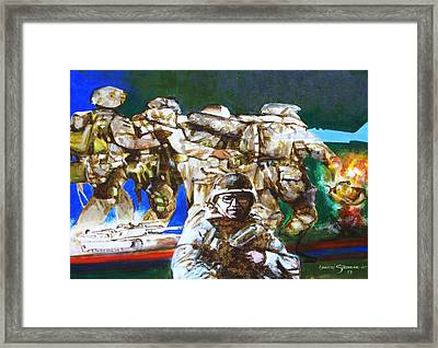 Med Evac Battle For Fallujah Iraq Framed Print by Howard Stroman