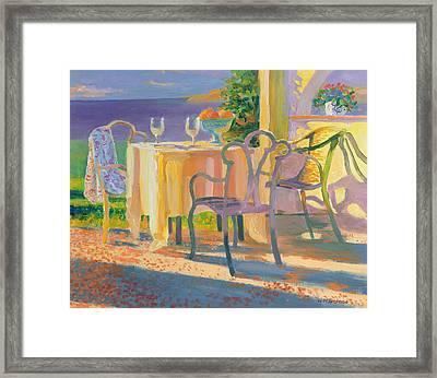 Med Evening Framed Print