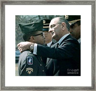 Medal Of Honor Ceremony II Framed Print by Lawrence Joel
