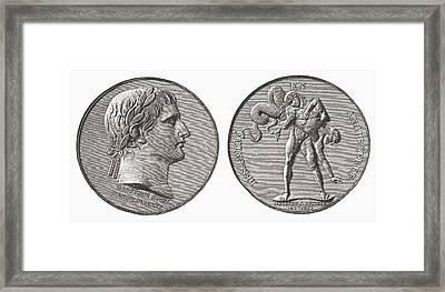 Medal Struck By Napoleon In Framed Print
