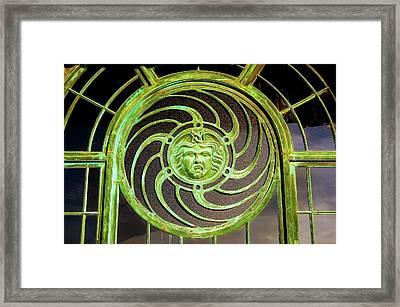 Medallion From The Carousel House In Asbury Park Nj Framed Print by Bob Cuthbert