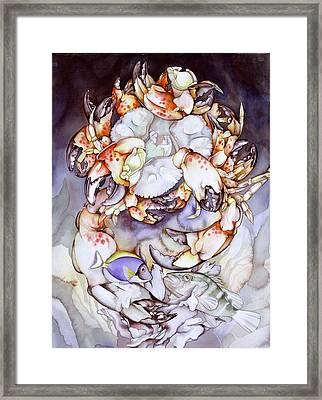 Medallion Series V Framed Print by Liduine Bekman
