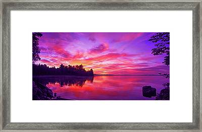 Meddybemps Sunrise Framed Print by ABeautifulSky Photography