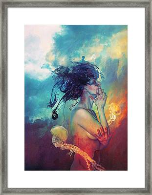 Medea Framed Print by Mario Sanchez Nevado