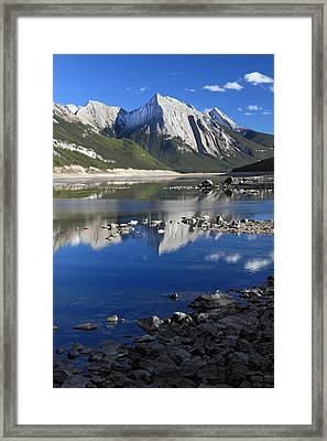 Medecine Lake Jasper National Park Alberta Canada Framed Print by Pierre Leclerc Photography