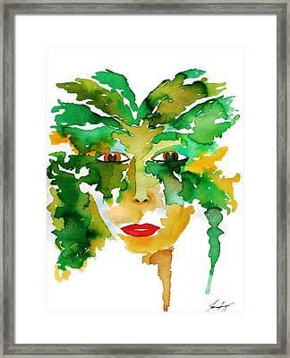 Medeina Goddess Of The Woodland Forest Framed Print