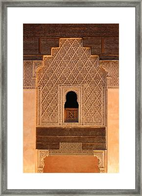 Framed Print featuring the photograph Medersa Ben Youssef by Ramona Johnston