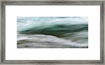 Medical Poem 1 Framed Print