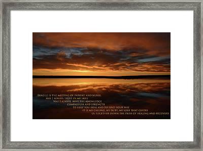 Medical Poem 2 Framed Print