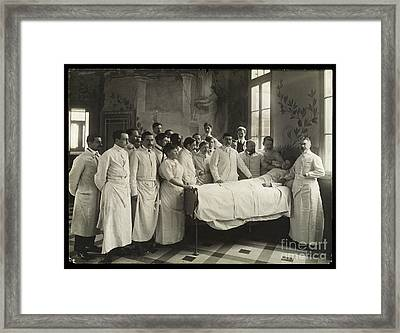 Medical Staff And Female Patient, 1910 Framed Print by Wellcome Images