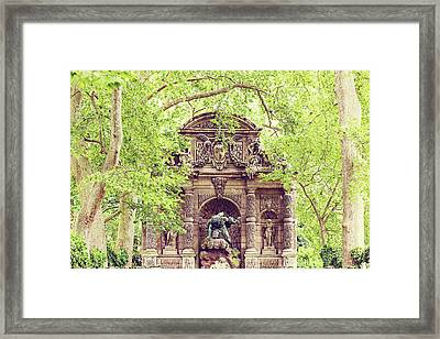 Framed Print featuring the photograph Medici In Spring by Melanie Alexandra Price