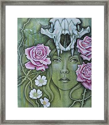 Framed Print featuring the mixed media Medicinae by Sheri Howe