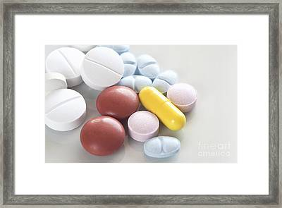 Medicinal Pills Framed Print by Blink Images