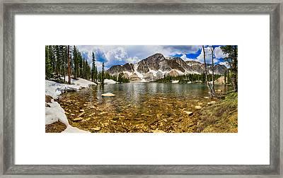 Medicine Bow Mountain Range Lake Panorama Framed Print by James BO  Insogna