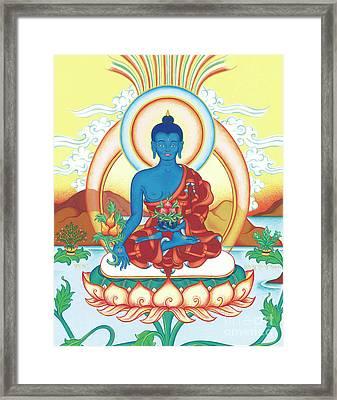 Medicine Buddha Framed Print by Carmen Mensink