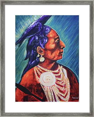 Medicine Crow After E.s. Curtis Framed Print