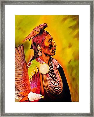 Medicine Crow And Eagle Framed Print