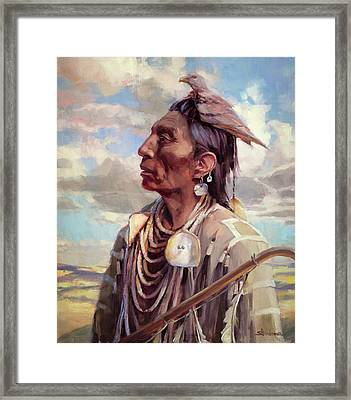 Medicine Crow Framed Print