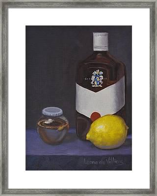 Medicine For My Lemon Man Framed Print by Leana De Villiers