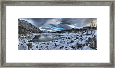 Medicine Lake Desolate Landscape Framed Print by Adam Jewell