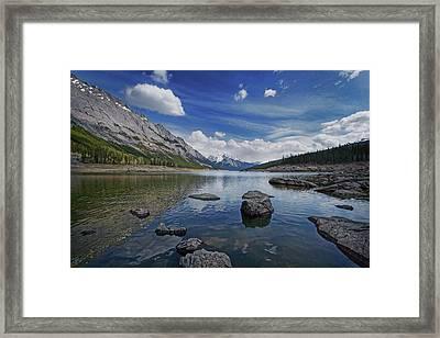 Medicine Lake, Jasper Framed Print