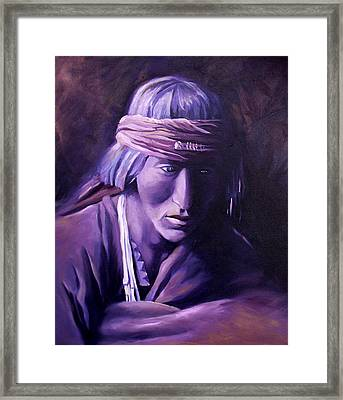 Framed Print featuring the painting Medicine Man by Nancy Griswold