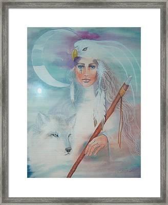 Medicine Woman Framed Print by Christine Winters