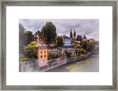 Medieval Basel Switzerland  Framed Print by Carol Japp