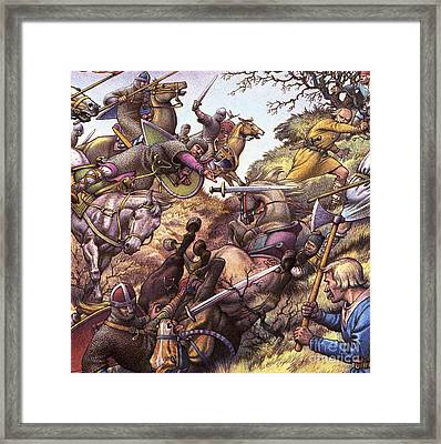 Medieval Battle Scene Framed Print